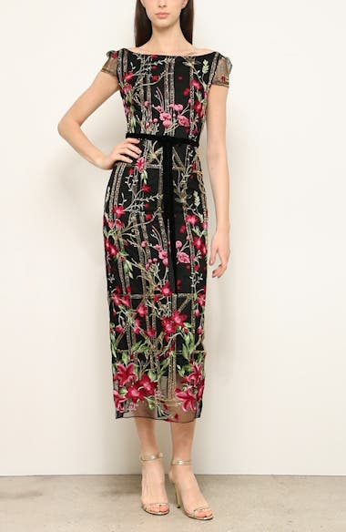 Floral Embroidered Midi Dress, video thumbnail