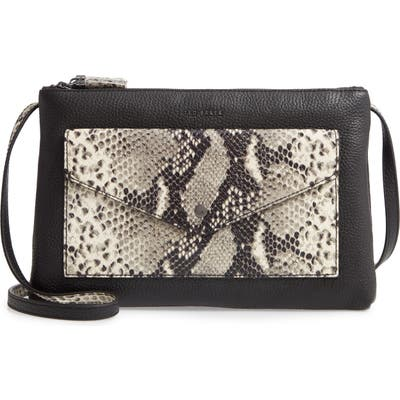 Ted Baker London Jessiee Exotic Leather Crossbody Bag - Black
