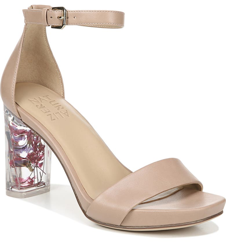 NATURALIZER Joy Block Heel Sandal, Main, color, GINGERSNAP SMOOTH LEATHER