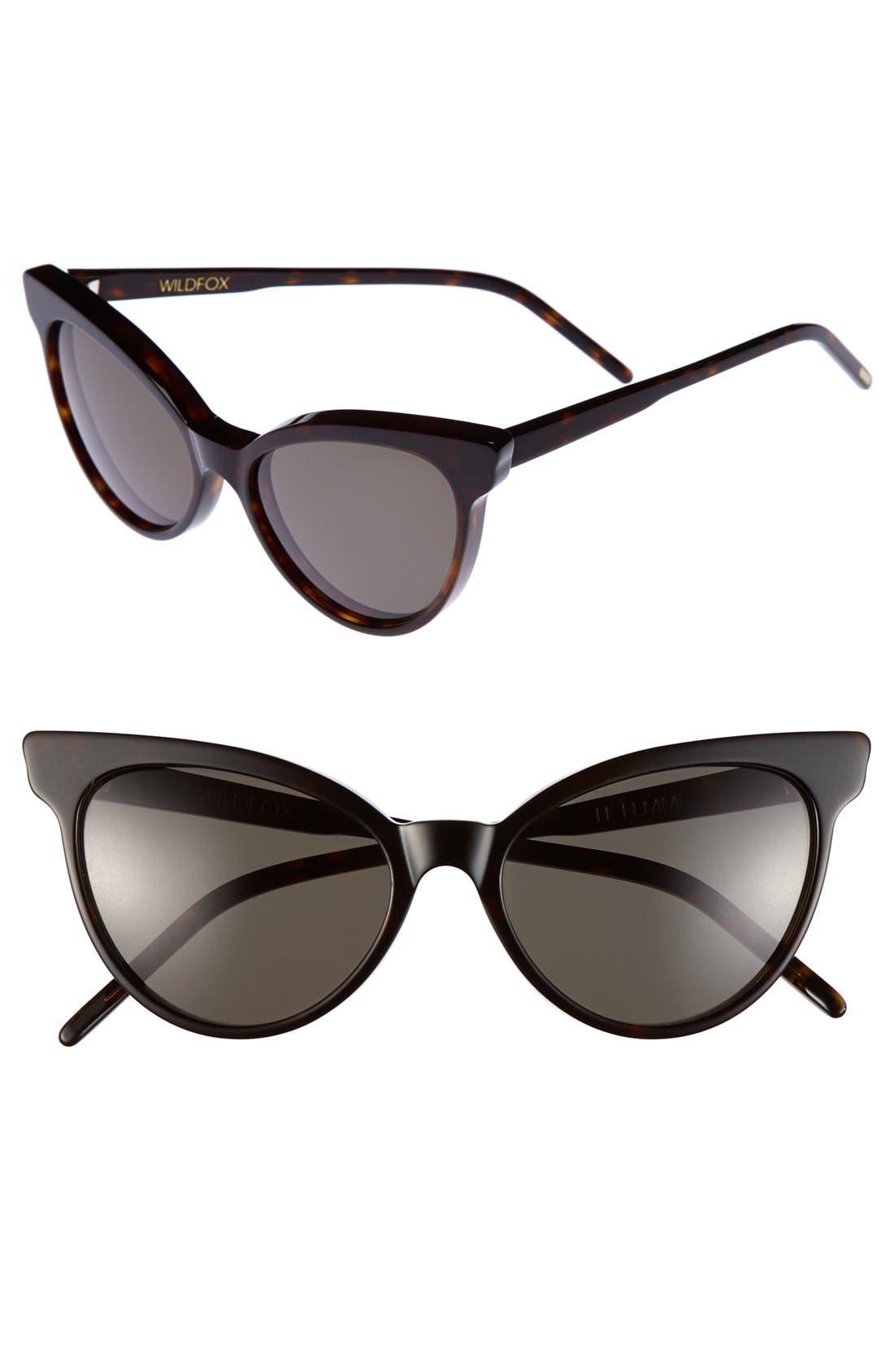 ,                             'La Femme' 55mm Sunglasses,                             Main thumbnail 11, color,                             200