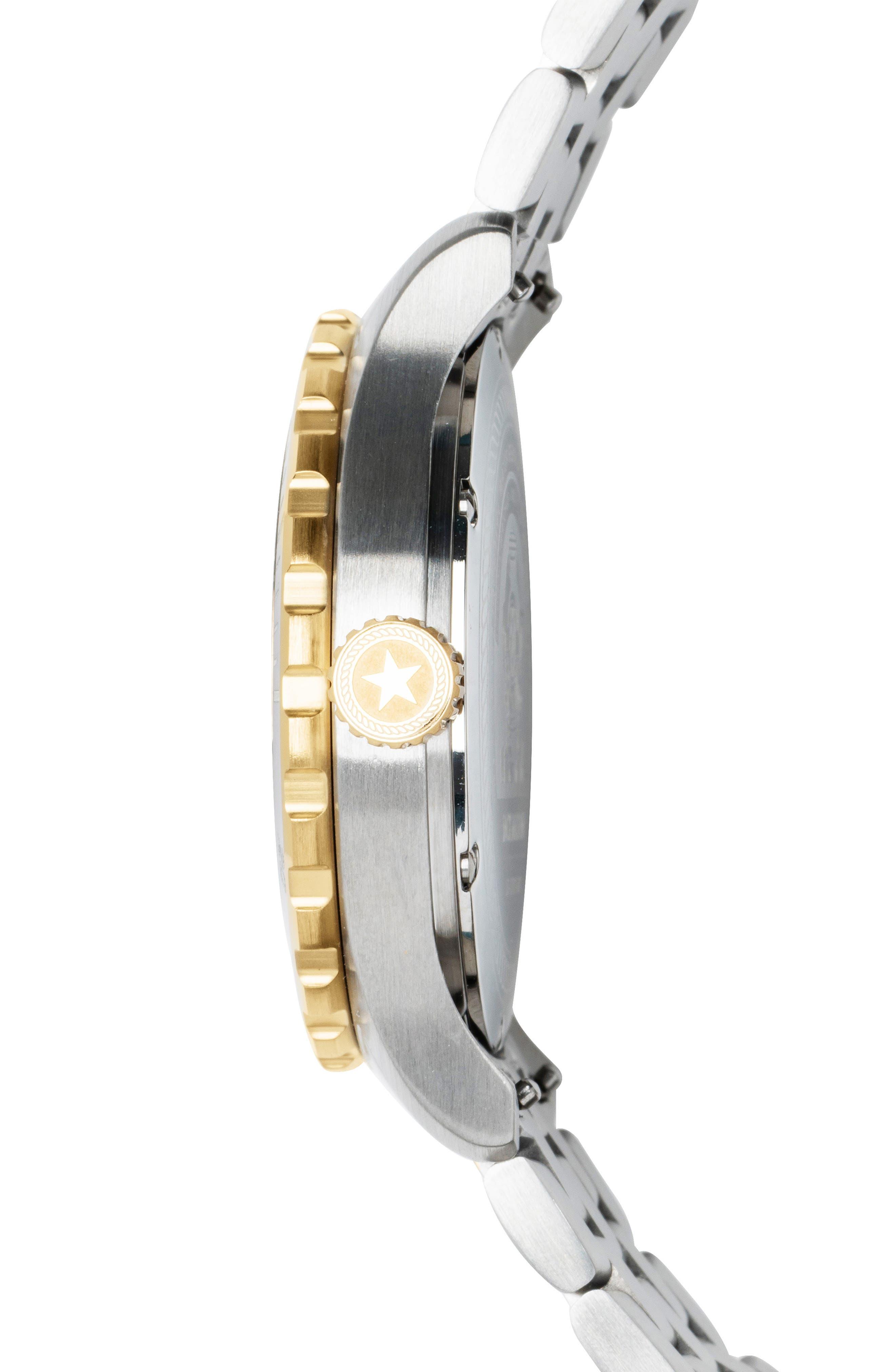 ,                             Diver Bracelet Watch, 42mm,                             Alternate thumbnail 3, color,                             BLUE