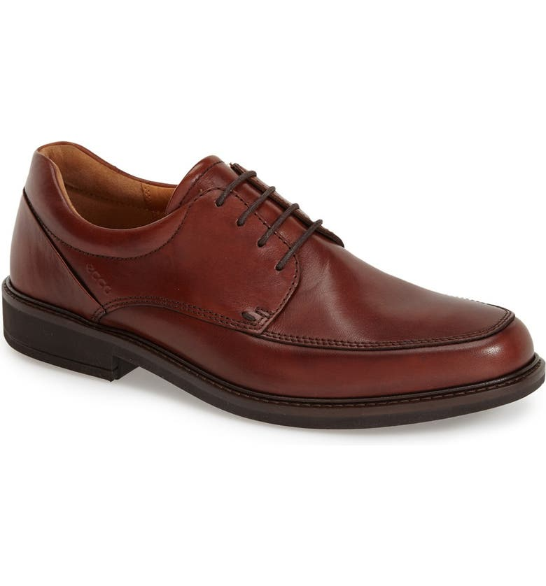 ECCO Holton Apron Toe Derby, Main, color, COGNAC