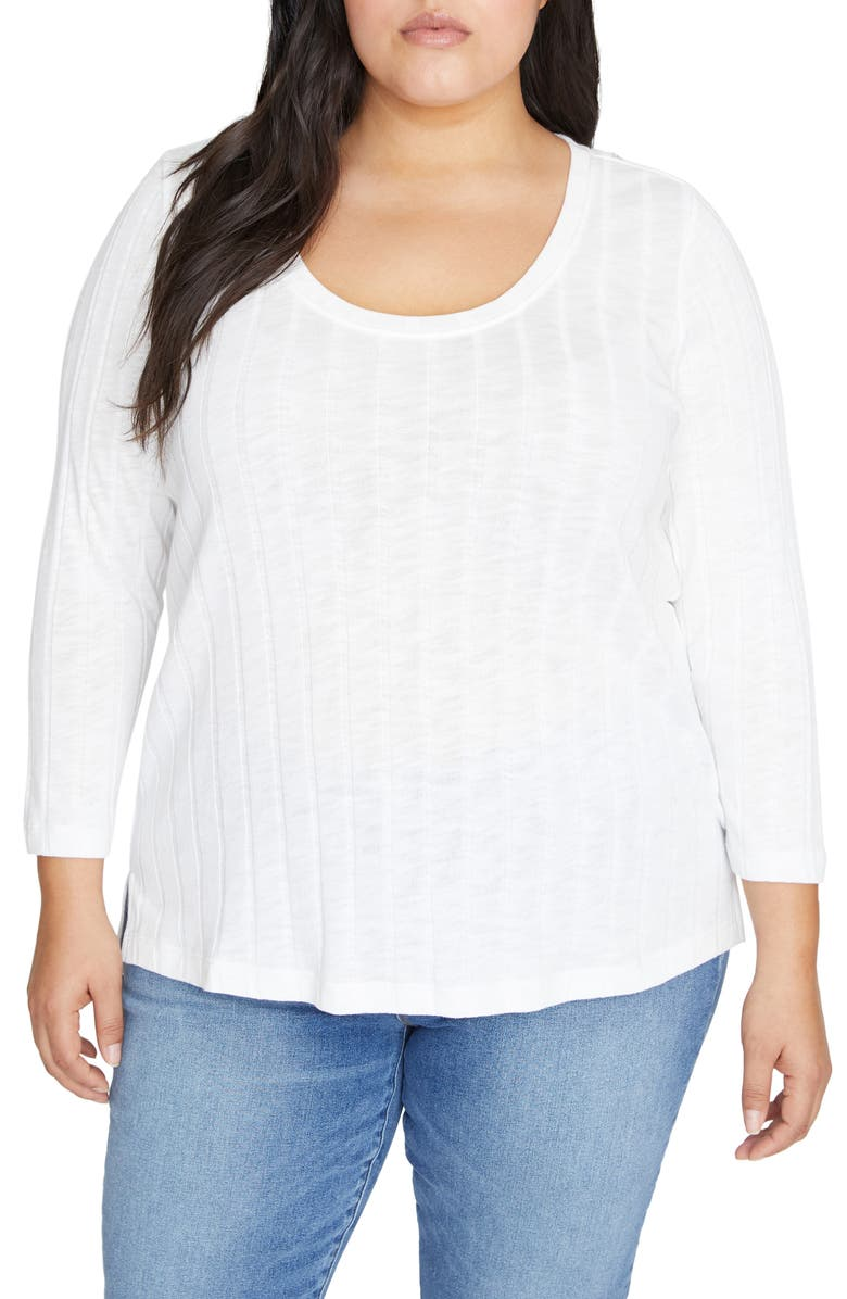 SANCTUARY Ruby Ribbed Knit Top, Main, color, OPAL