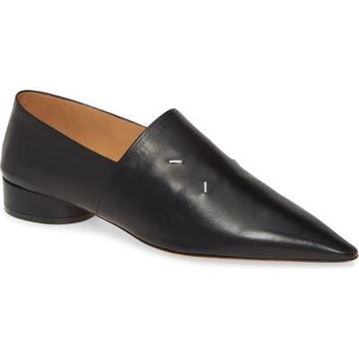 Maison Margiela Kiki Pointy Toe Loafer, Black