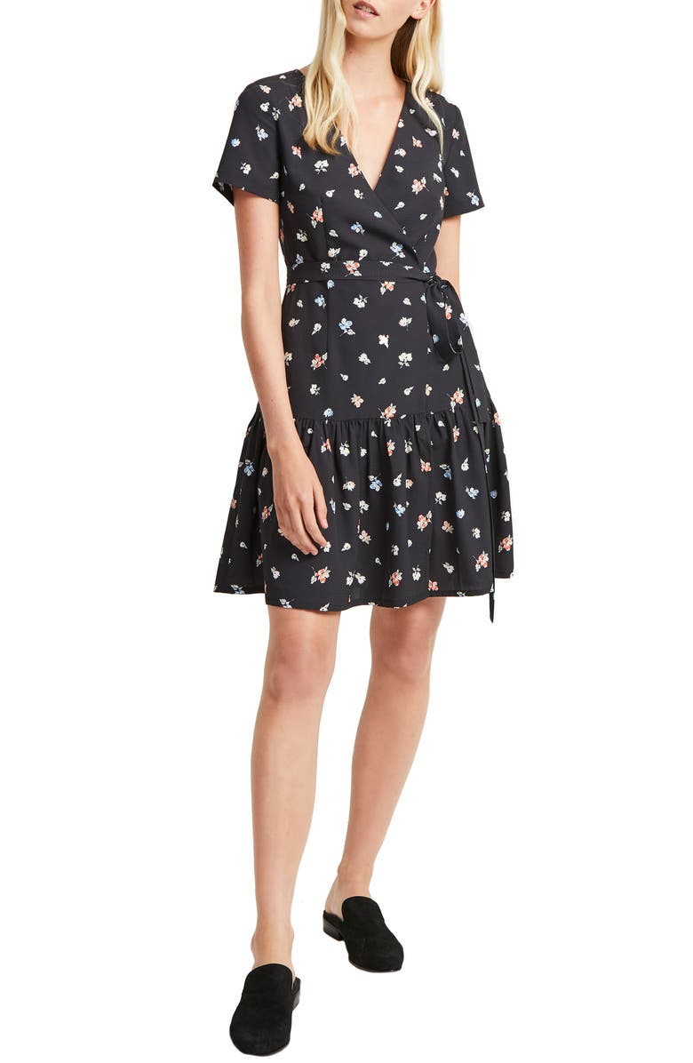 FRENCH CONNECTION Frida Arimose Crepe Faux Wrap Dress, Main, color, 452
