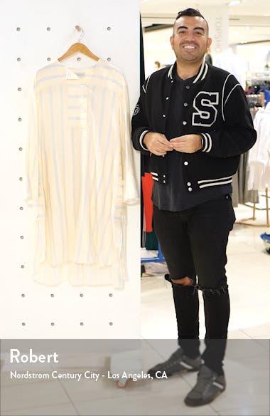 Granada Stripe Long Sleeve Ramie Dress, sales video thumbnail