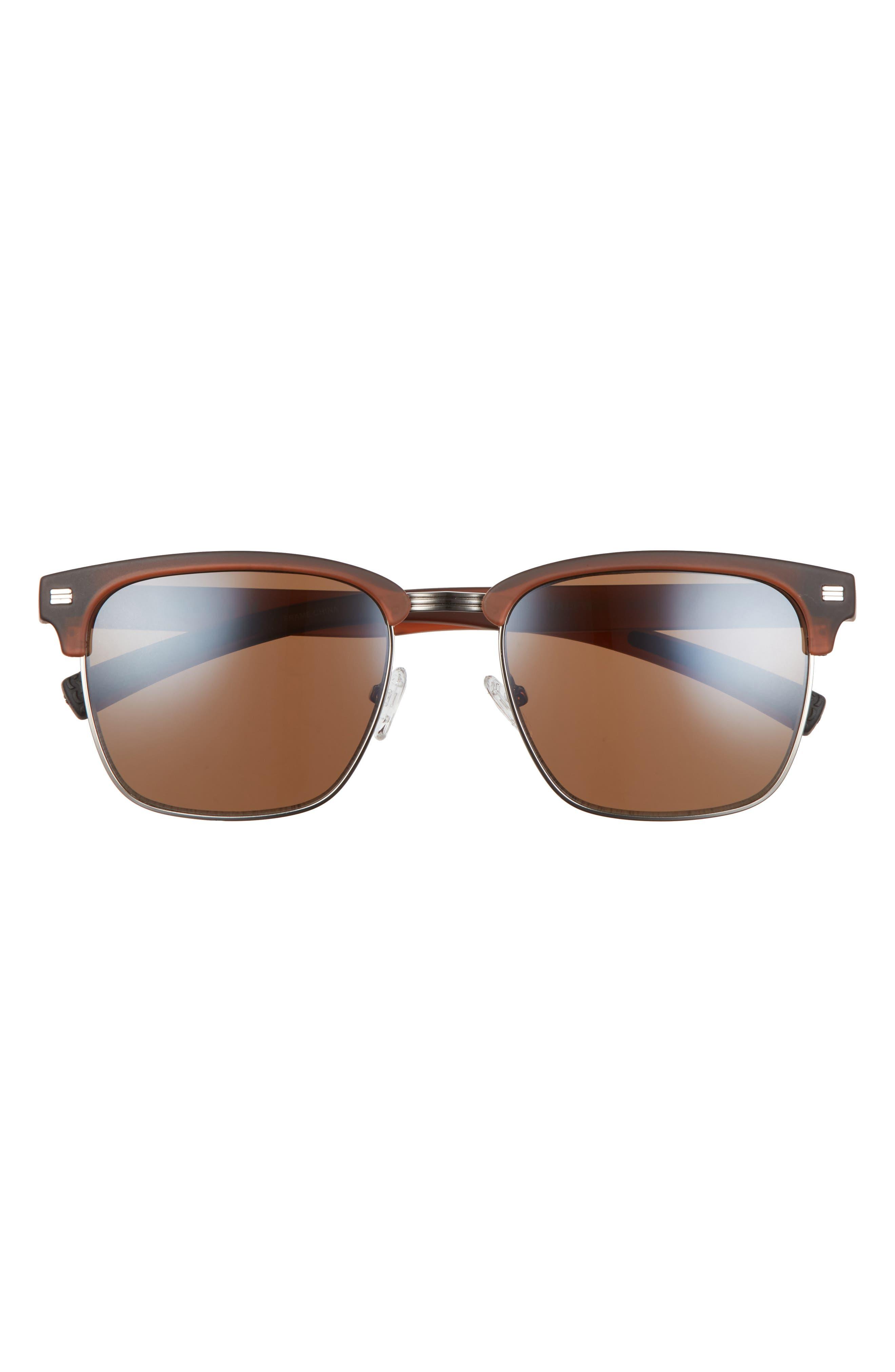 Halfway 56mm Polarized Browline Sunglasses