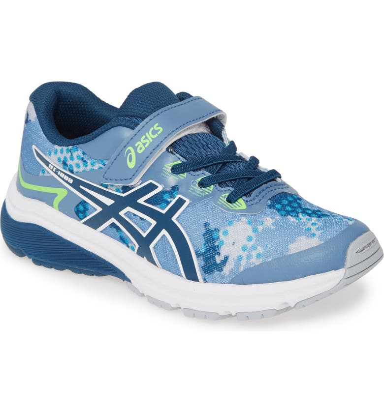 ASICS<SUP>®</SUP> GT-1000 8 PS Running Shoe, Main, color, GREY FLOSS/ MAKO BLUE