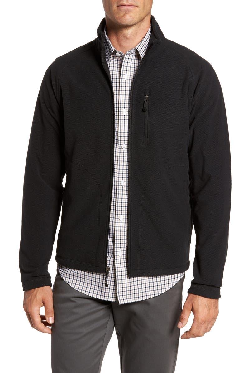 NORDSTROM MEN'S SHOP Polar Fleece Jacket, Main, color, 001