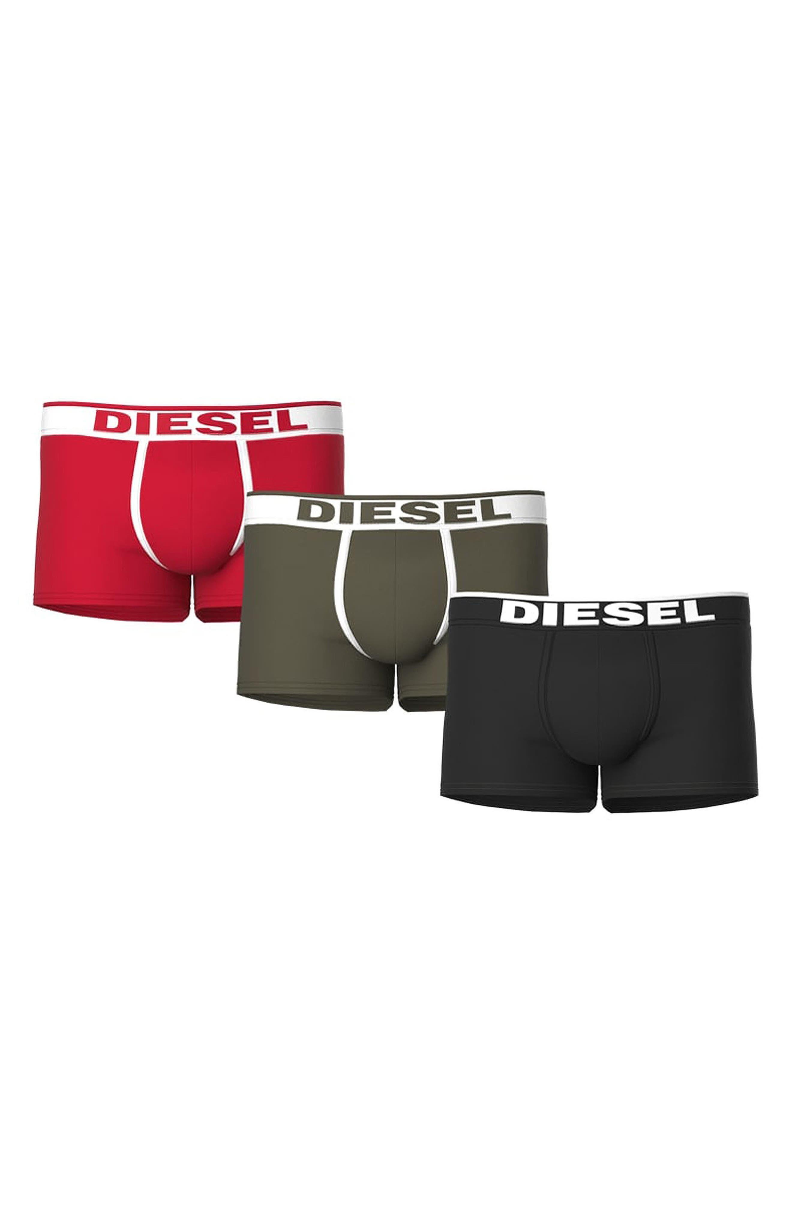 Men's Diesel Damien 3-Pack Cotton Trunks