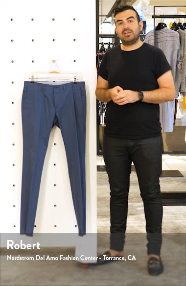Wylson Flat Front Slim Fit Stretch Cotton Trousers, sales video thumbnail