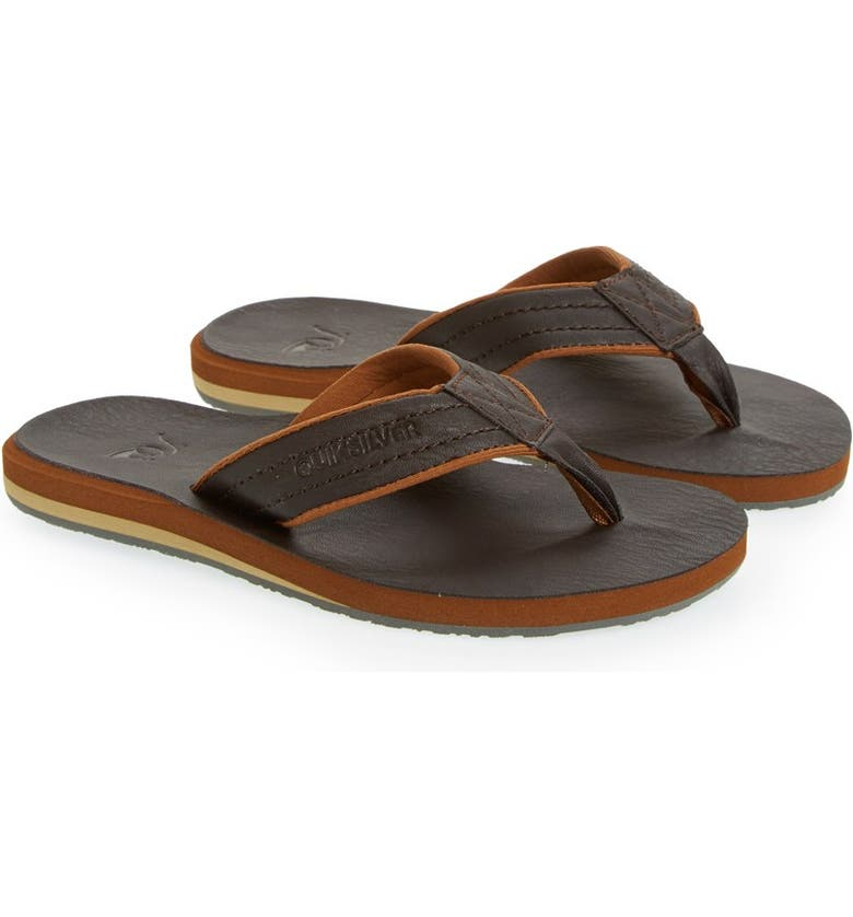 QUIKSILVER 'Carver' Flip Flop, Main, color, DEMITASSE SOLID