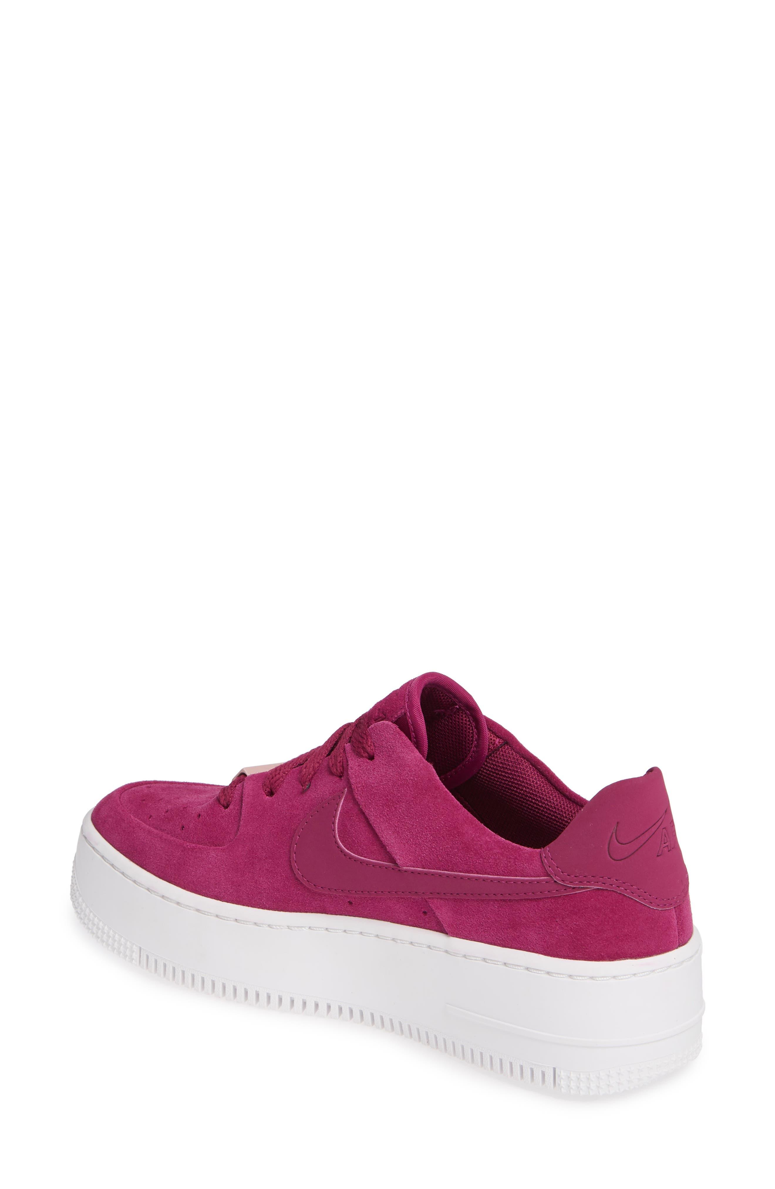 ,                             Air Force 1 Sage Low Platform Sneaker,                             Alternate thumbnail 2, color,                             TRUE BERRY/ PLUM CHALK