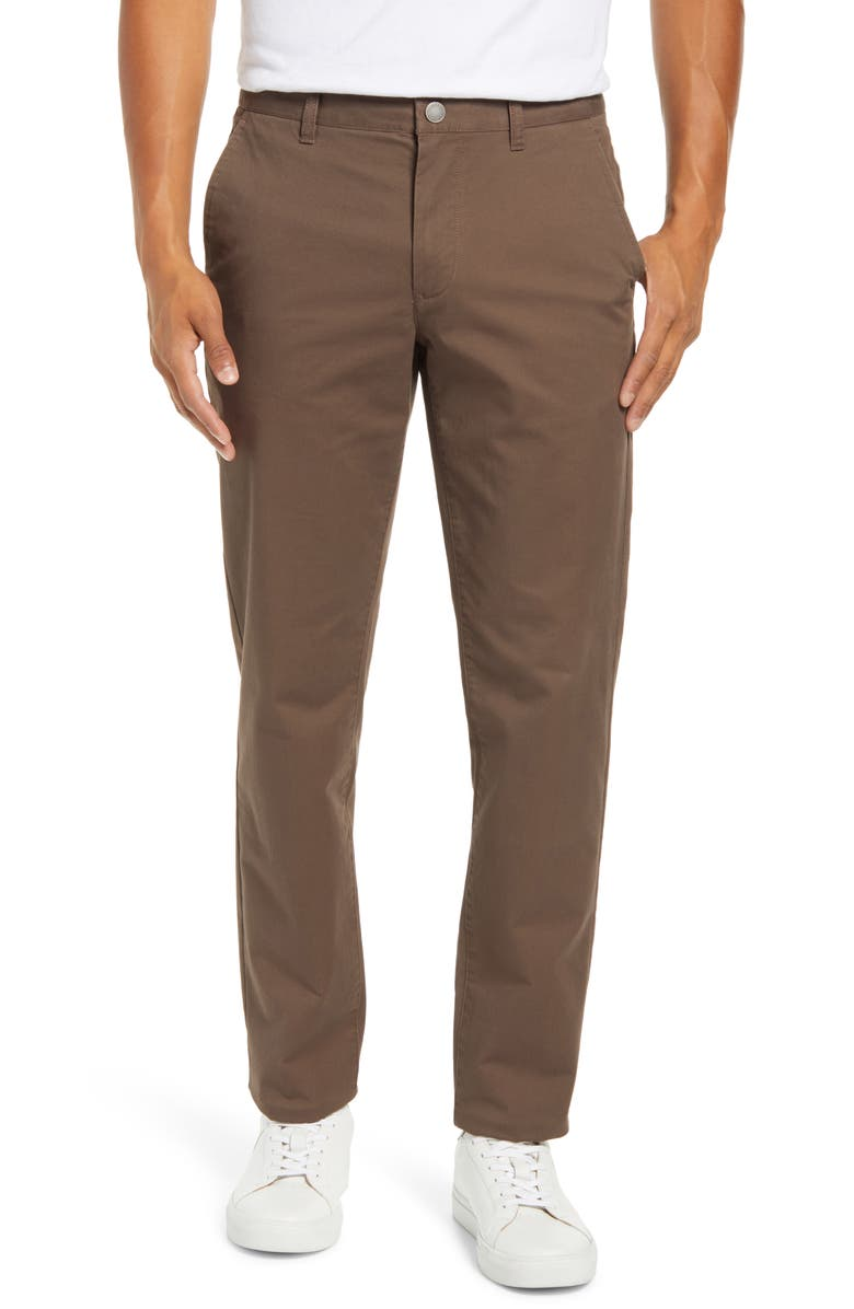 BONOBOS Slim Fit Stretch Washed Chinos, Main, color, WELLIE OLIVE