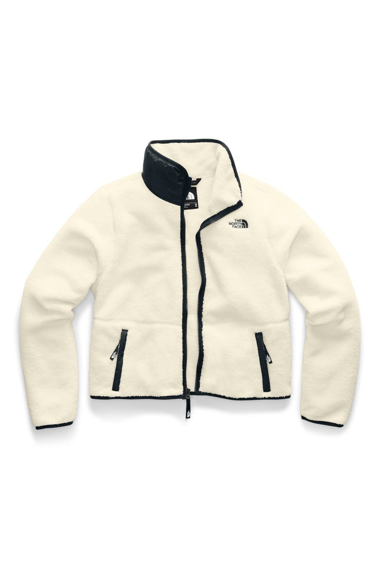 THE NORTH FACE Dunraven Faux Shearling Jacket, Main, color, VINTAGE WHITE