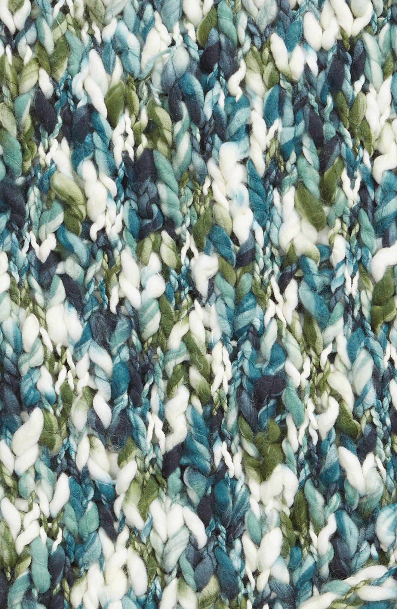,                             Knit Throw,                             Alternate thumbnail 2, color,                             GREEN SHORE MULTI