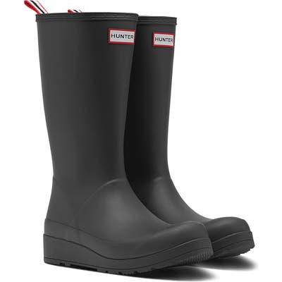 Hunter Original Play Tall Waterproof Rain Boot, Black