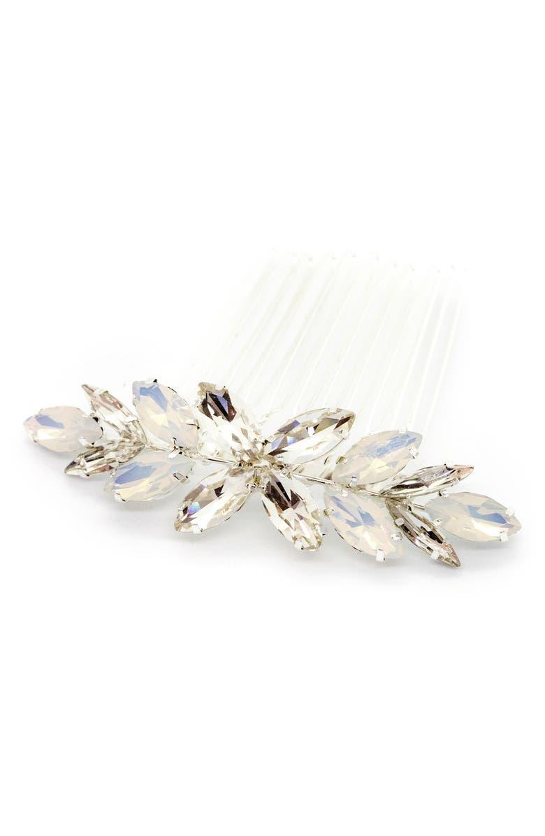 BRIDES & HAIRPINS Fiorella Comb, Main, color, SILVER