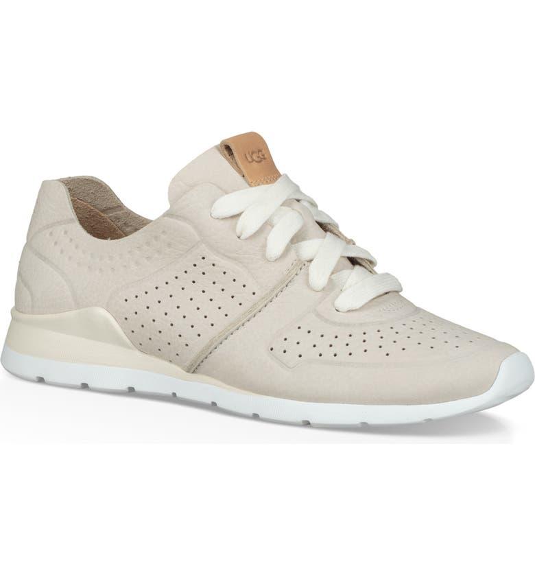 UGG<SUP>®</SUP> Tye Sneaker, Main, color, COCONUT MILK LEATHER