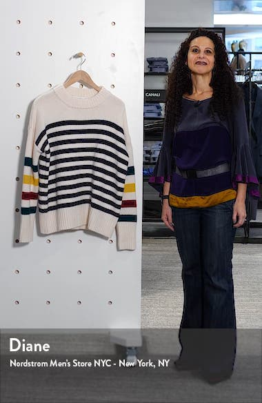 Multi Stripe Marin Wool & Cashmere Sweater, sales video thumbnail