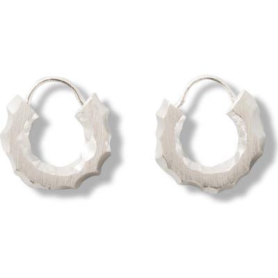 All Blues Carved Hoop Earrings