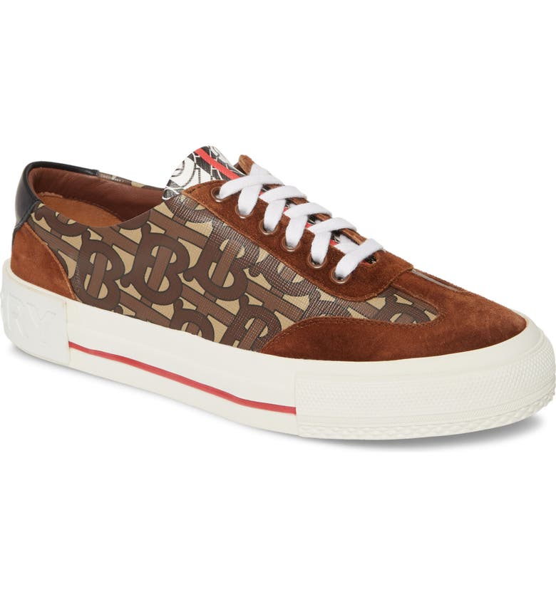 BURBERRY Nelson Low Top Sneaker, Main, color, BRIDLE BROWN