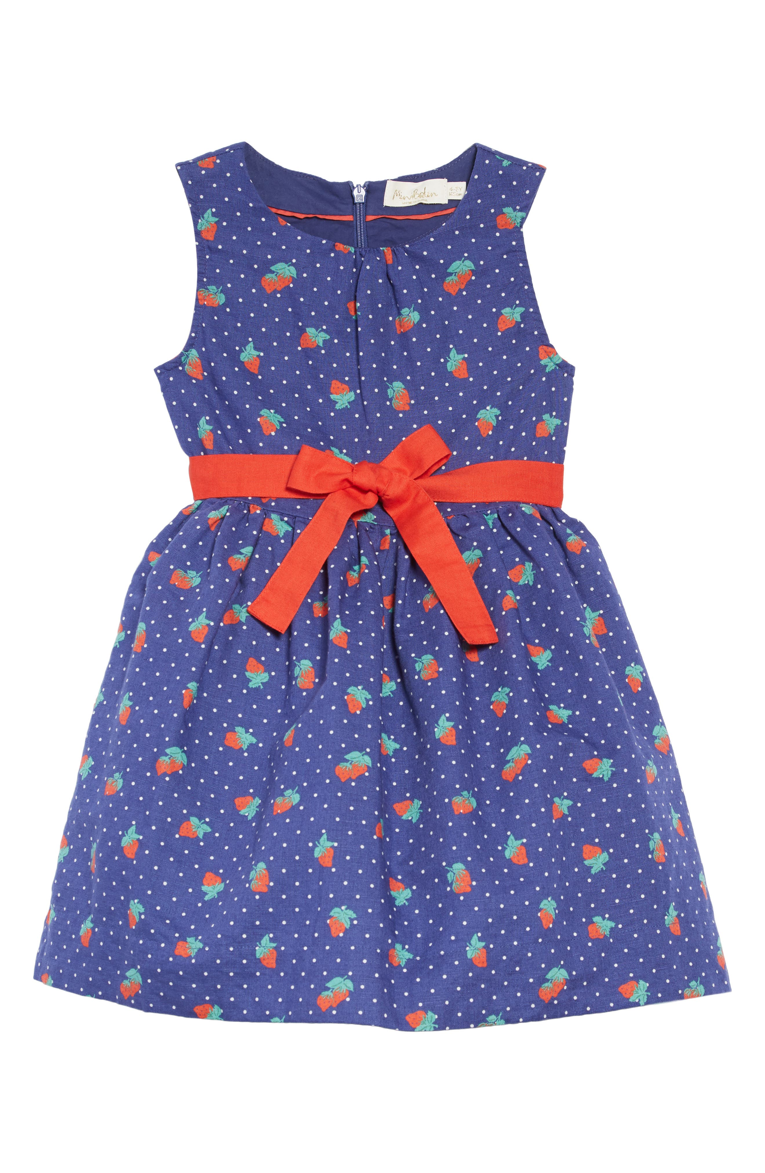 ,                             Vintage Dress,                             Main thumbnail 1, color,                             BLU STARBOARD BLUE STRAWBERRY