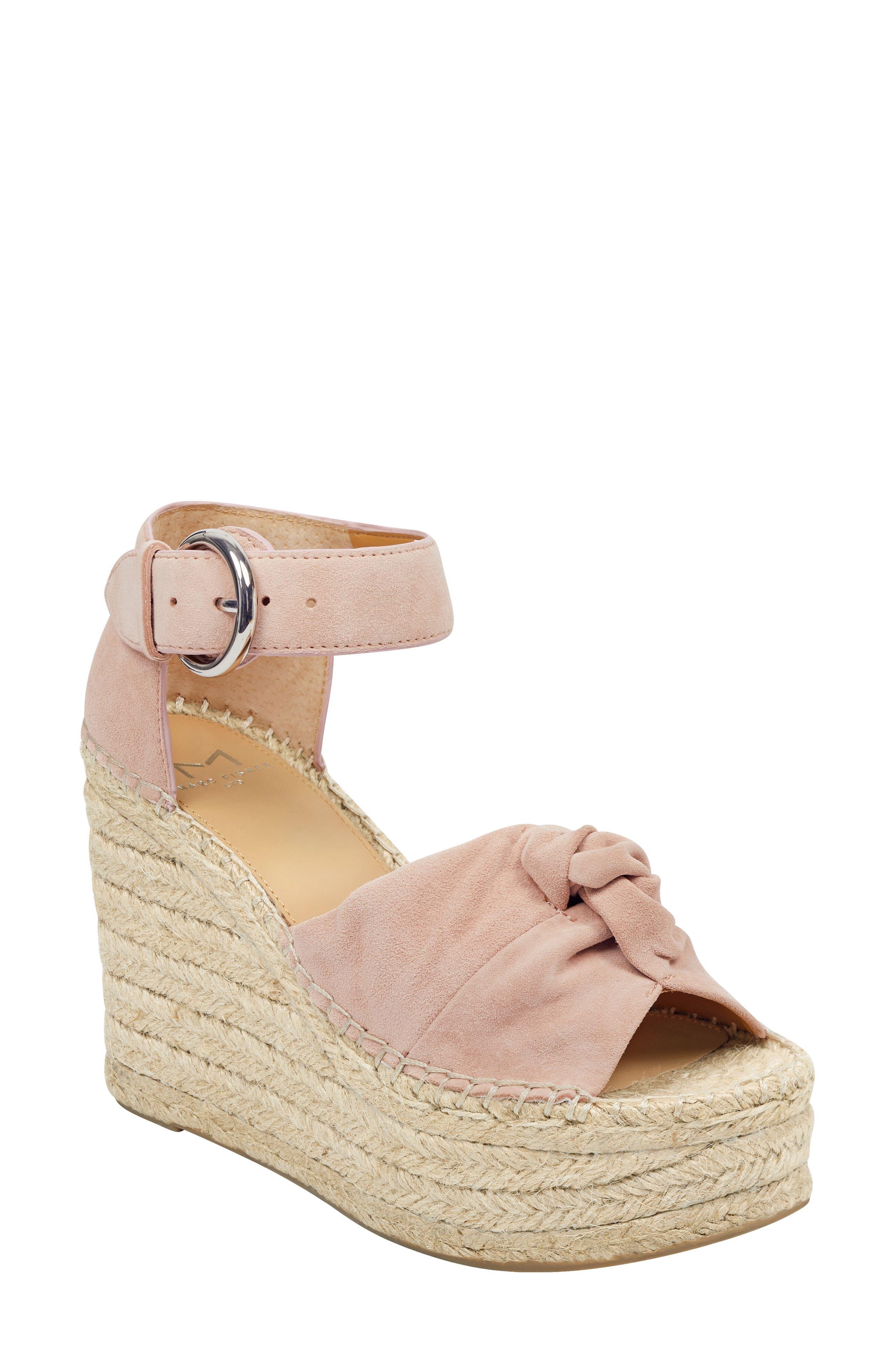 Marc Fisher Ltd Anty Platform Espadrille Sandal, Pink