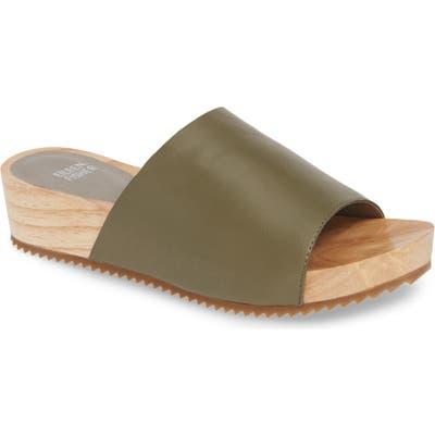 Eileen Fisher Mini Platform Slide Sandal, Green