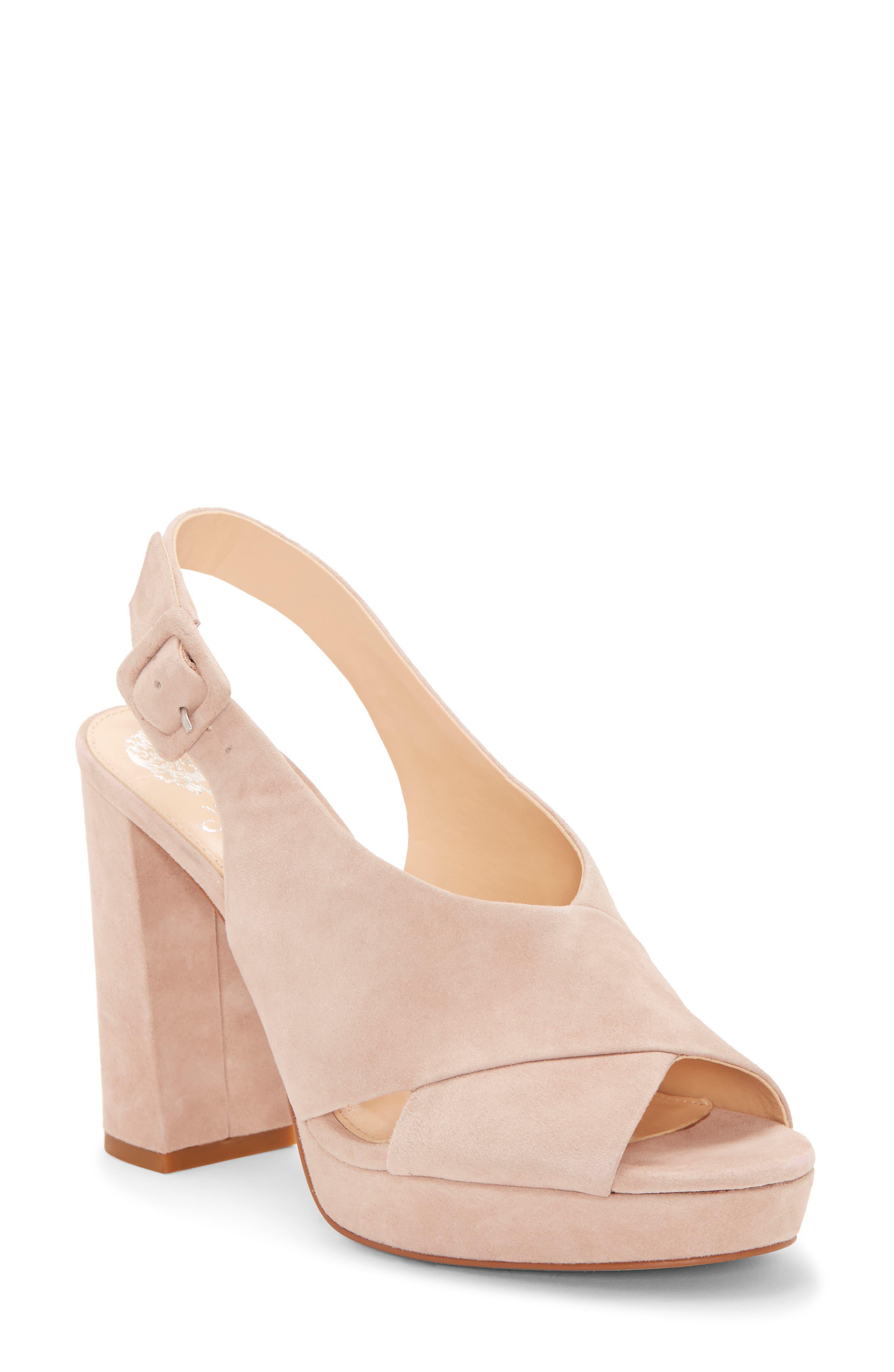 Vince Camuto Slingback Platform Sandal, Beige