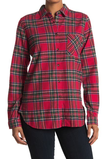 Image of THREAD AND SUPPLY Tartan Plaid Flannel Shirt