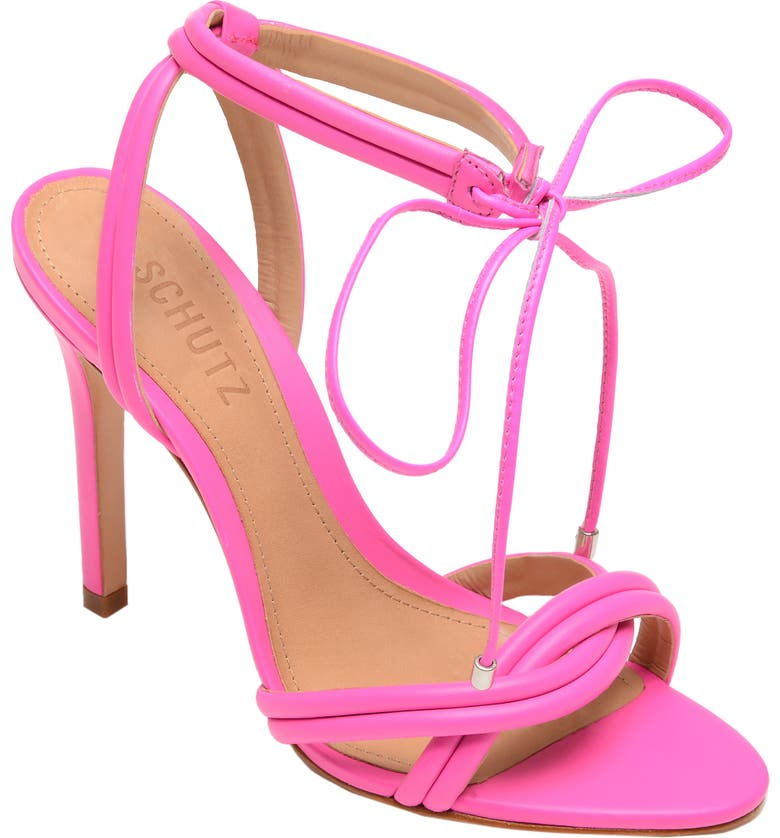 SCHUTZ Yvi Strappy Sandal, Main, color, NEON PINK