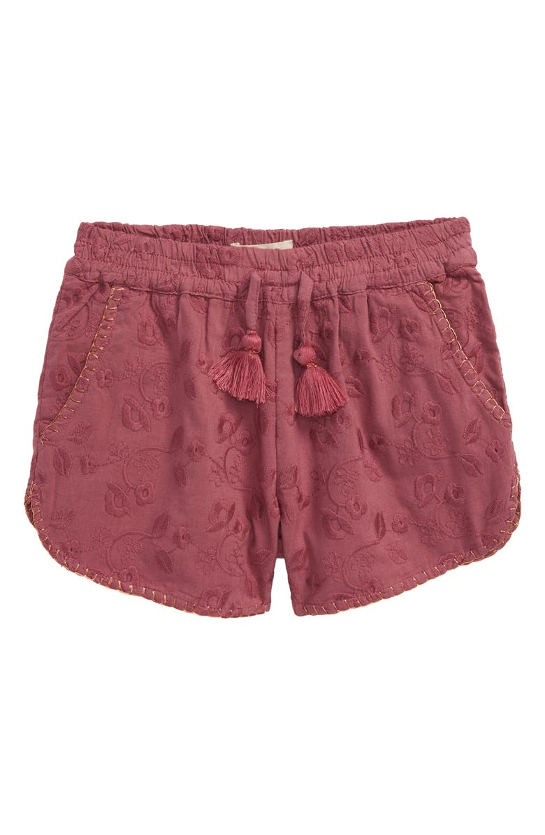 PEEK AREN'T YOU CURIOUS Hannah Embroidered Shorts, Main, color, 661
