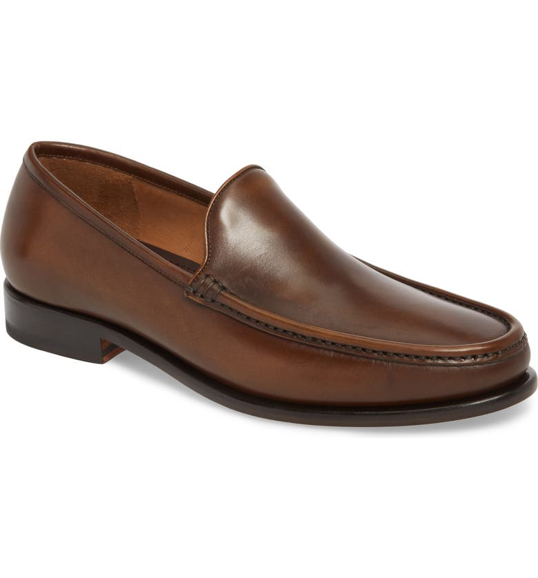 BRUNO MAGLI Ello Moc Toe Loafer, Main, color, COGNAC