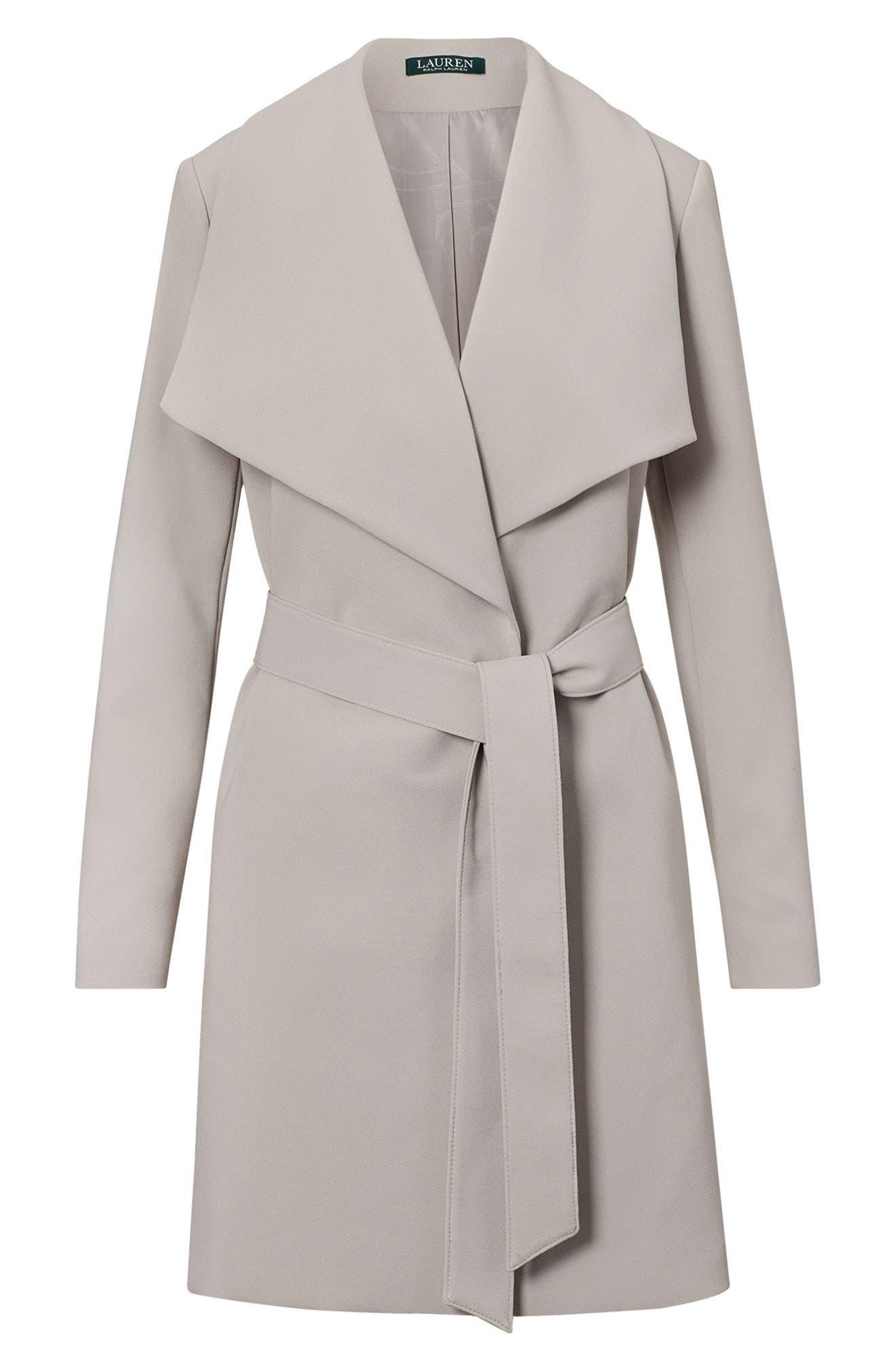,                             Belted Drape Front Coat,                             Alternate thumbnail 11, color,                             023