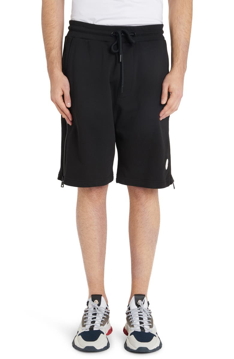 MONCLER Logo Shorts, Main, color, BLACK