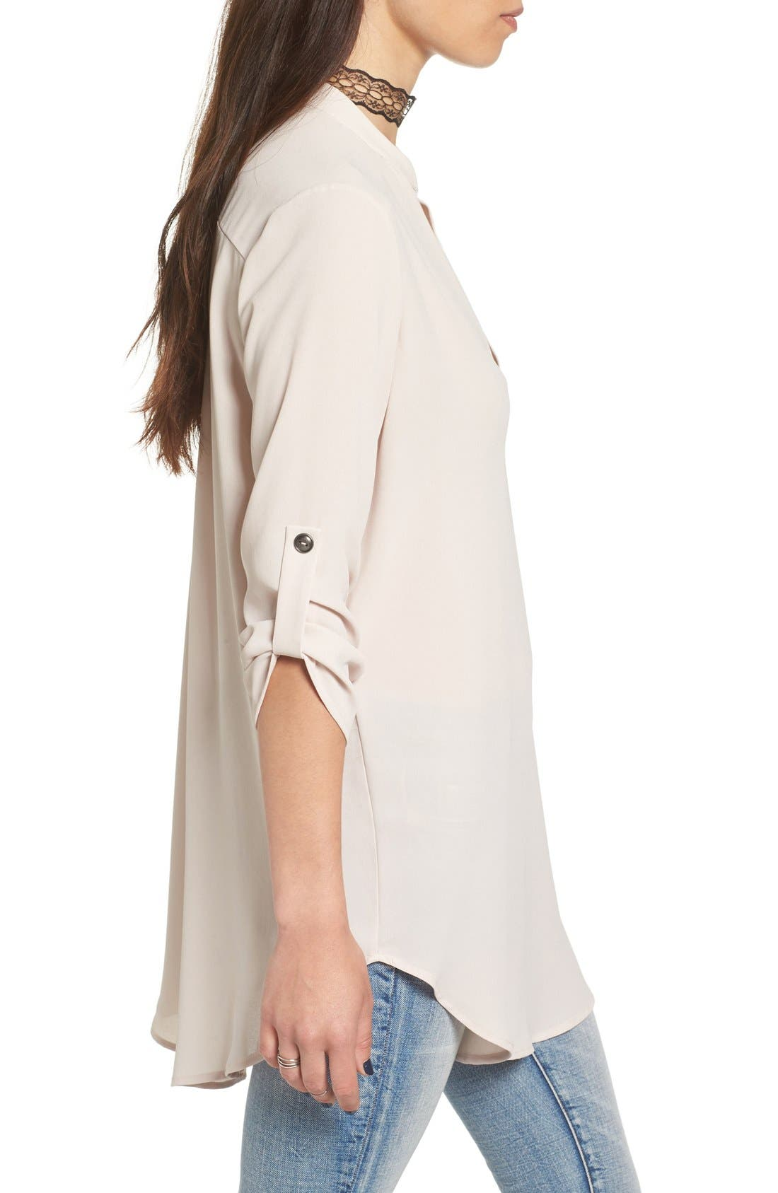 ,                             Perfect Roll Tab Sleeve Tunic,                             Alternate thumbnail 210, color,                             087