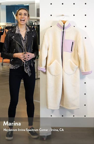 Longline Teddy Fleece Coat, sales video thumbnail