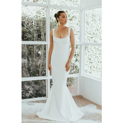 Noel And Jean By Katie May The Sophisticate Trumpet Wedding Dress, Ivory