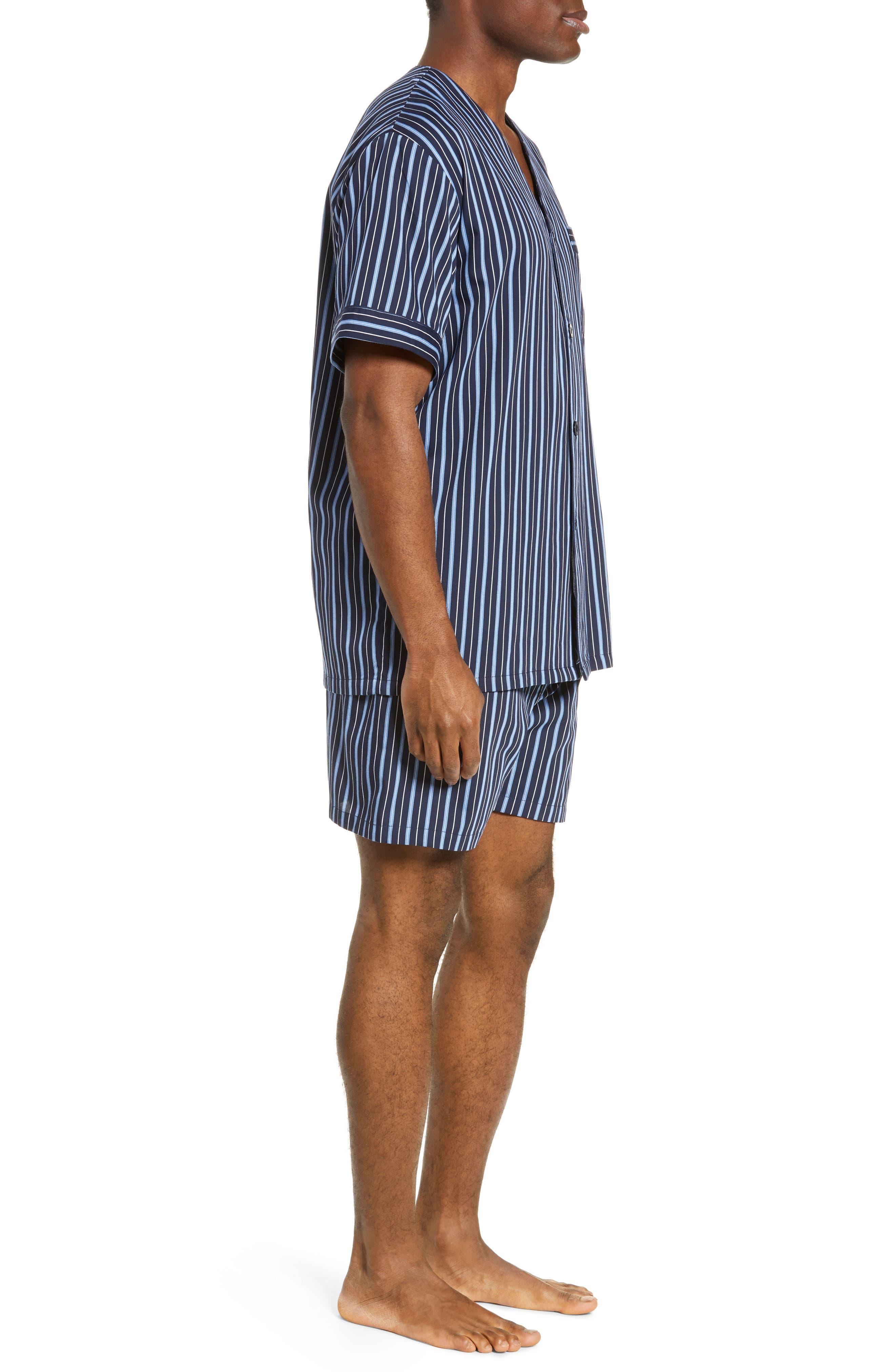 ,                             Fresca Shorty Pajamas,                             Alternate thumbnail 3, color,                             NAVY
