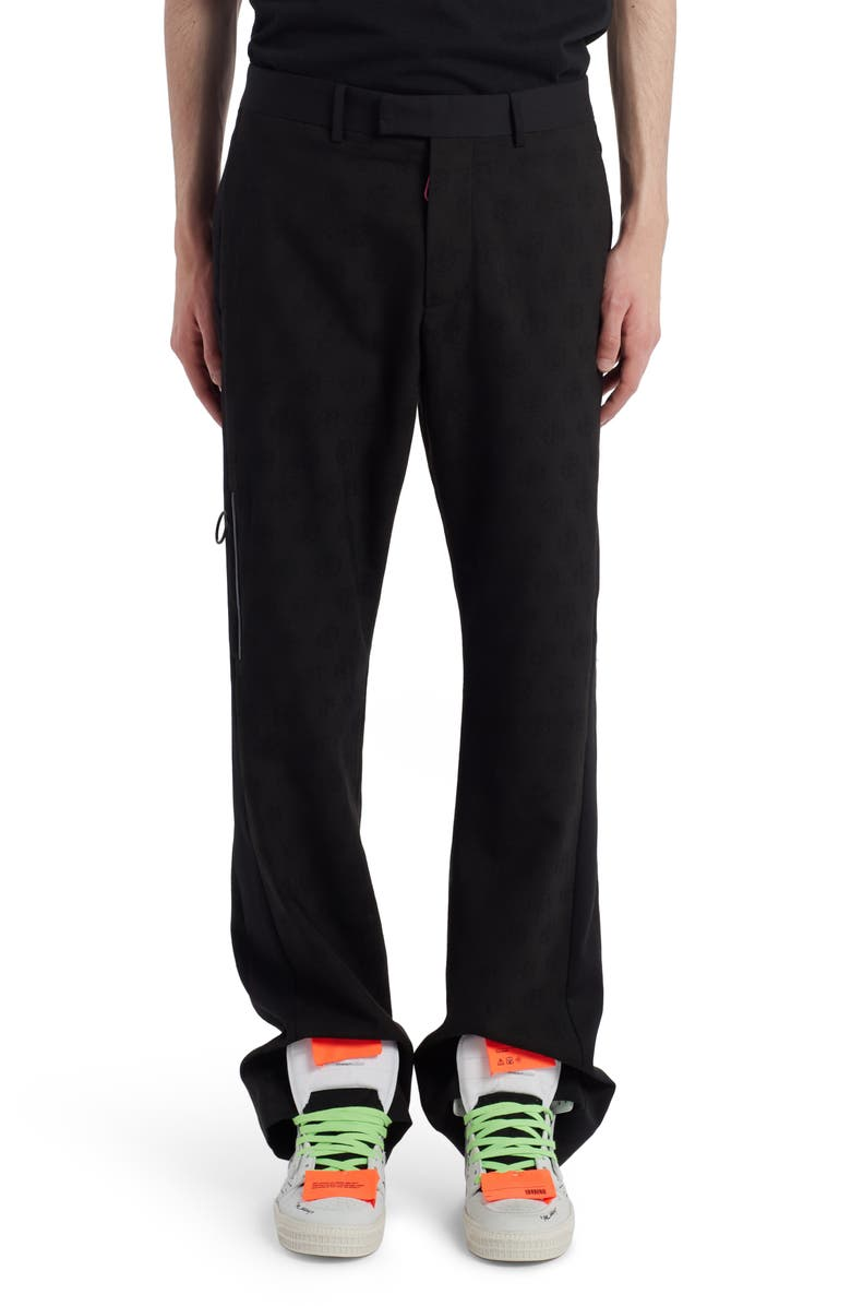 OFF-WHITE Tailored Wool Pants, Main, color, BLACK