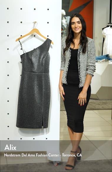 One-Shoulder Metallic Body-Con Dress, sales video thumbnail