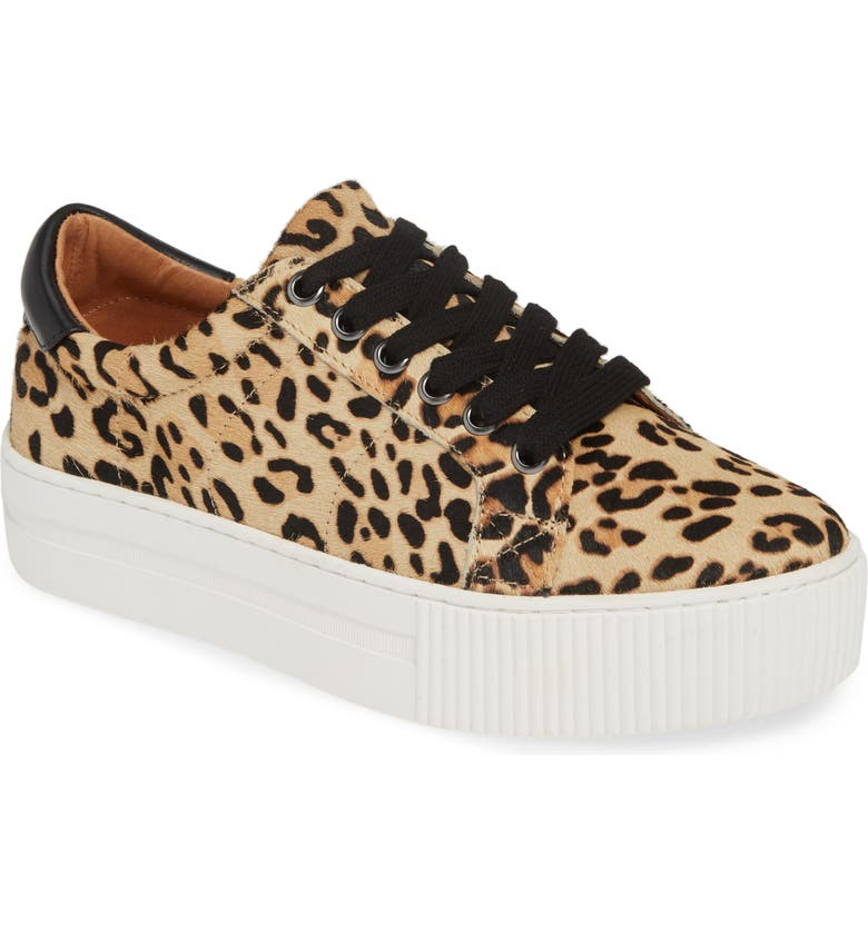 HALOGEN<SUP>®</SUP> Bethany Platform Genuine Calf Hair Sneaker, Main, color, LEOPARD PRINT CALF HAIR
