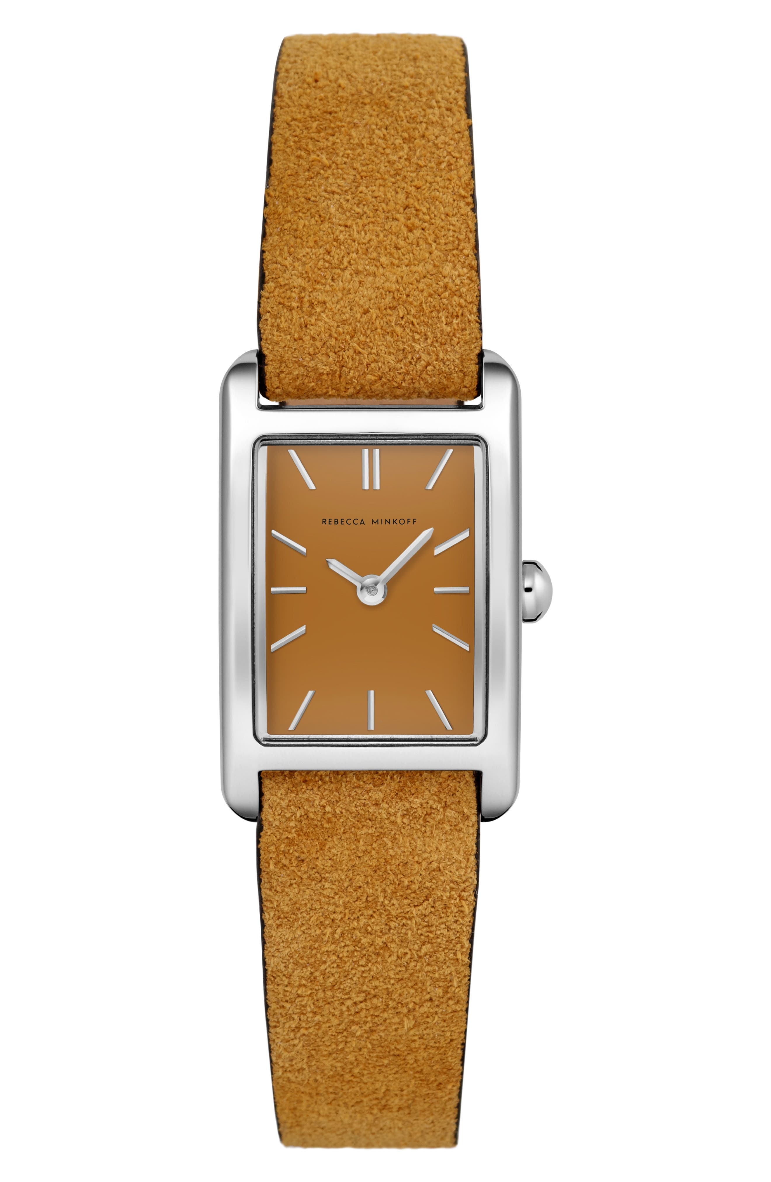 Rebecca Minkoff Watches Moment Leather Strap Watch, 19mm x 30mm