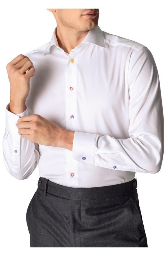 Eton CONTEMPORARY FIT MULTICOLOR BUTTON SOLID DRESS SHIRT