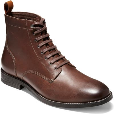 Cole Haan Feathercraft Grand Plain Toe Boot, Brown