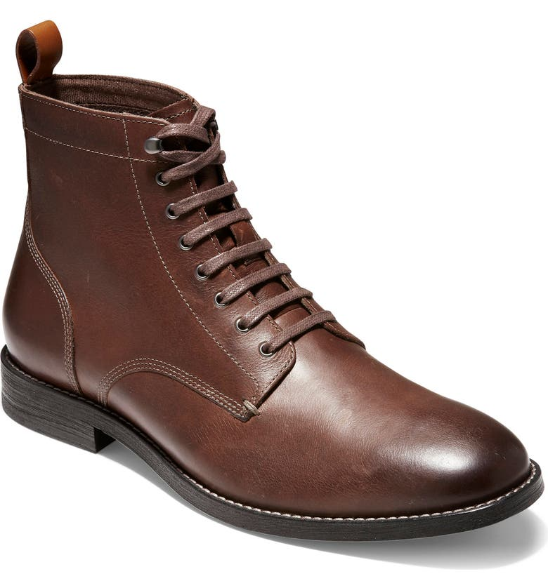COLE HAAN Feathercraft Grand Plain Toe Boot, Main, color, CHESTNUT
