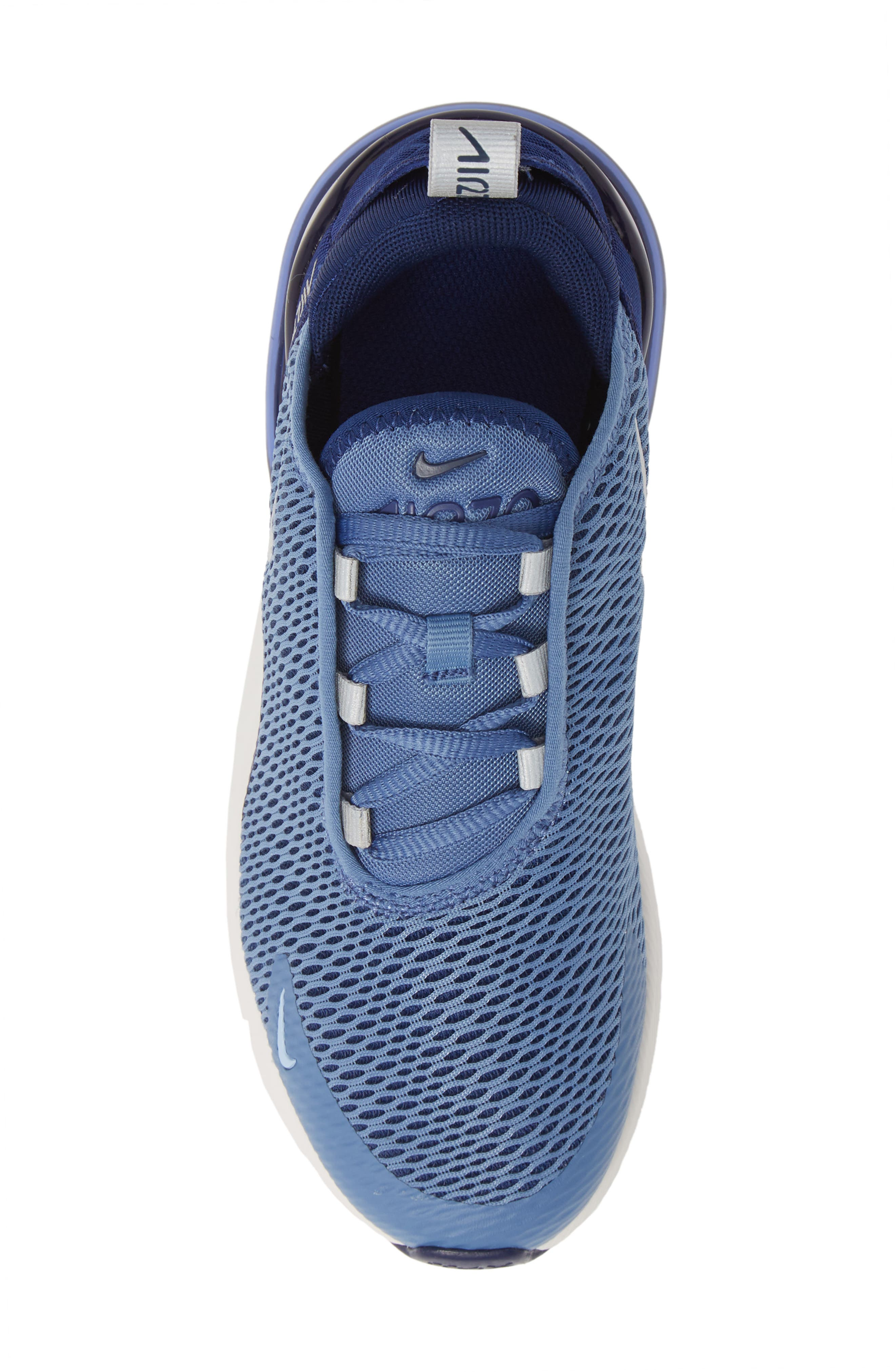 ,                             Air Max 270 Sneaker,                             Alternate thumbnail 5, color,                             INDIGO STORM/ METALLIC SILVER