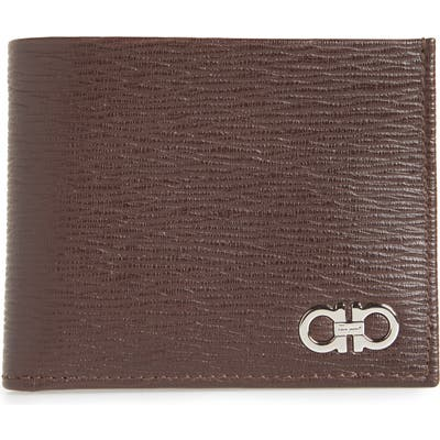Salvatore Ferragamo Revival Gancio Bifold Leather Wallet - Brown