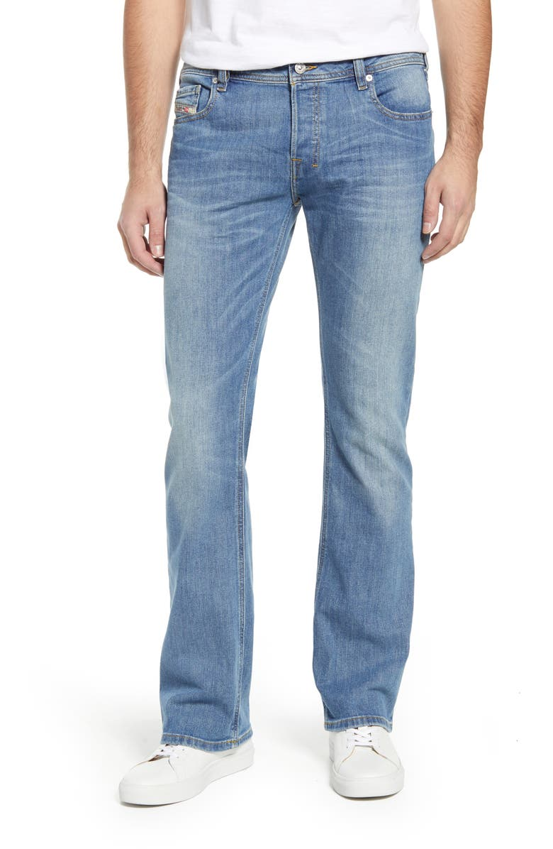 DIESEL<SUP>®</SUP> Zatiny Bootcut Jeans, Main, color, LIGHT BLUE